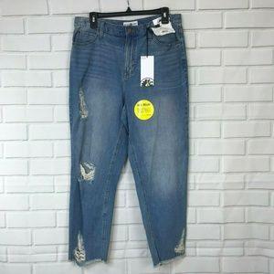 Black Daisy Vintage Straight Leg Juniors Remedy